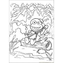Elmo Sings A Song Free Coloring Page for Kids