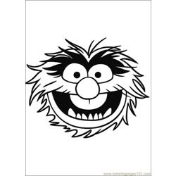 Muppets 05 Free Coloring Page for Kids