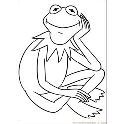 Muppets 06 Free Coloring Page for Kids