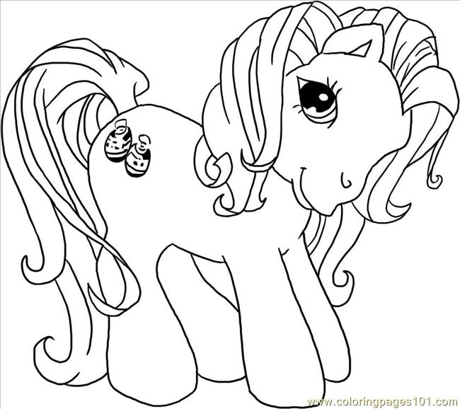 Little Ponies Kimono Step 4 Coloring Page