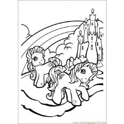 My Little pony Free Coloring Page for Kids