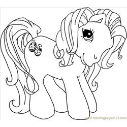 Little Ponies, Kimono Step 4 Free Coloring Page for Kids