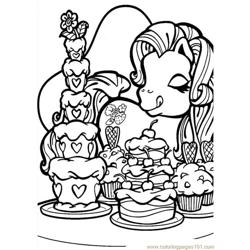 Little Pony9 Free Coloring Page for Kids