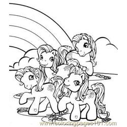 Near Rainbow Free Coloring Page for Kids