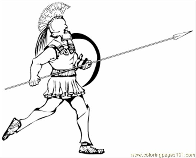 69 Greek Hoplite Coloring Page