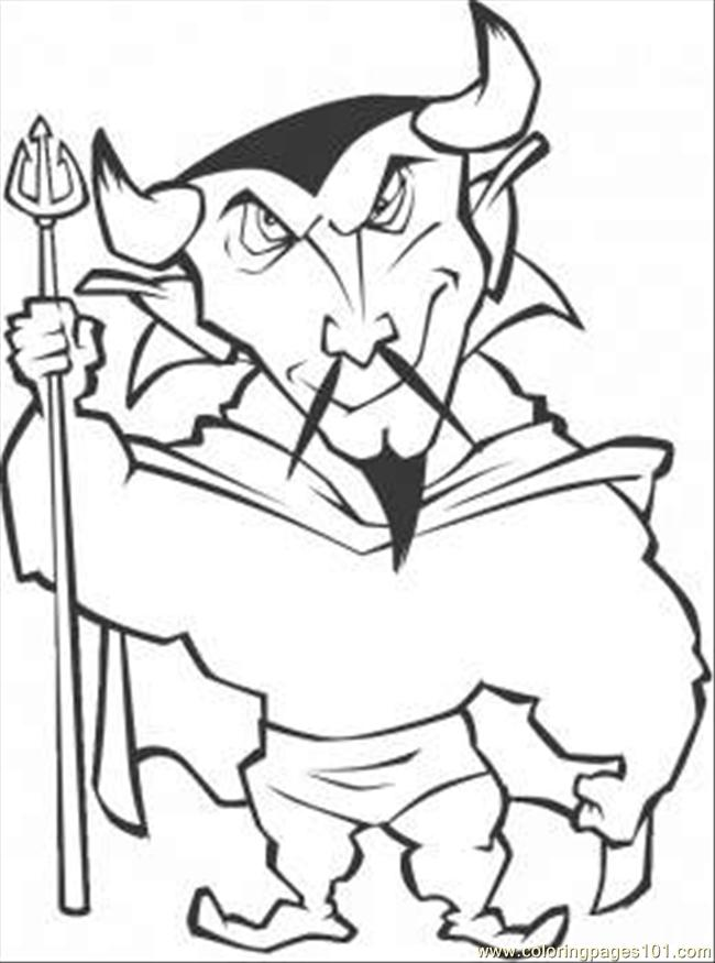 Chinese Demon Coloring Page