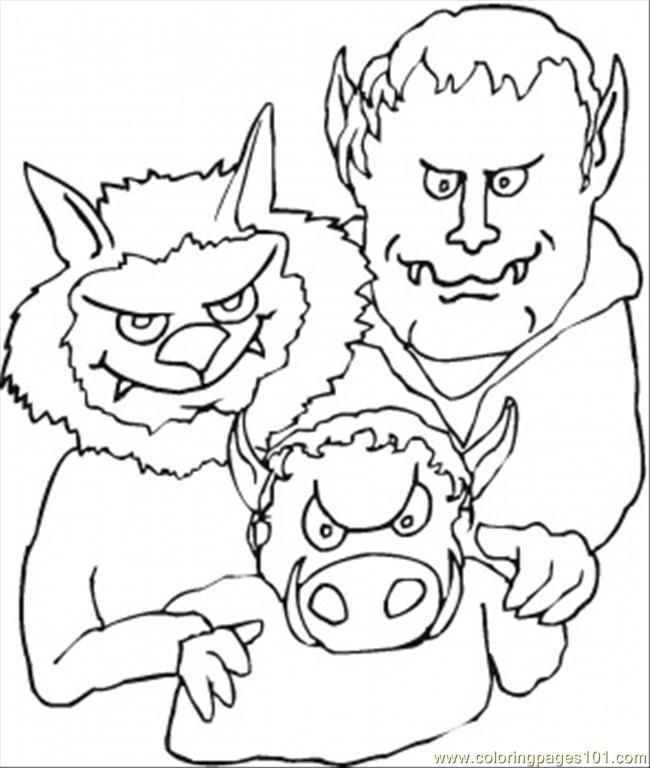 Demons Family Coloring Page