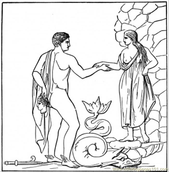 Flirt With Goddess Coloring Page