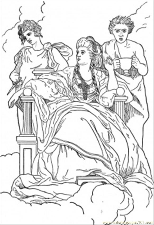 Muses Coloring Page
