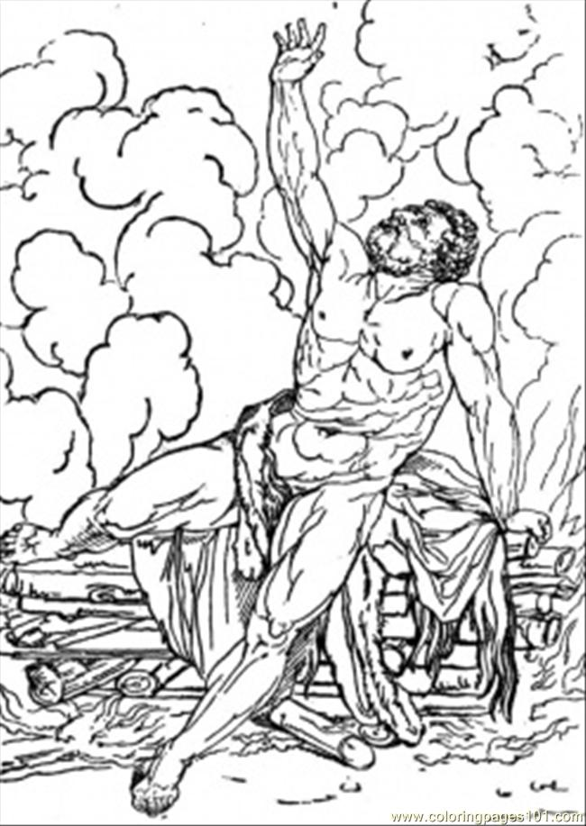 Tired Hercules Coloring Page Free Mythology Coloring Pages