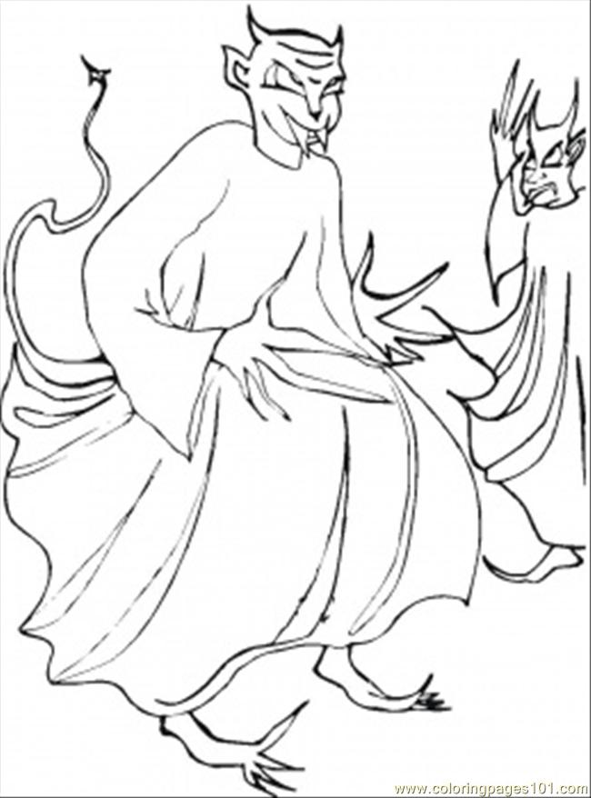 Two Demons Coloring Page