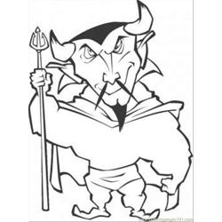 Chinese Demon Free Coloring Page for Kids