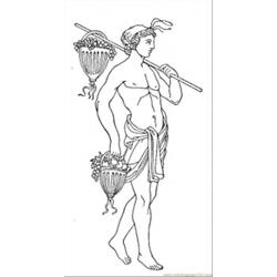 Roman With Fruits Free Coloring Page for Kids