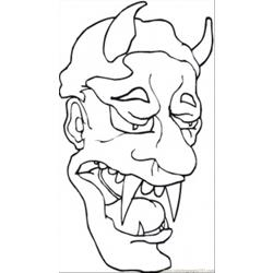Sad Demon Free Coloring Page for Kids