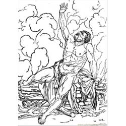 Tired Hercules Free Coloring Page for Kids