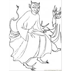Two Demons Free Coloring Page for Kids