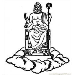 Zeus Free Coloring Page for Kids