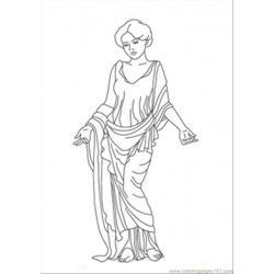 Venus Statue Free Coloring Page for Kids