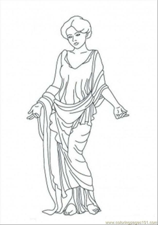 Venus Statue Coloring Page Free Mythology Coloring Pages