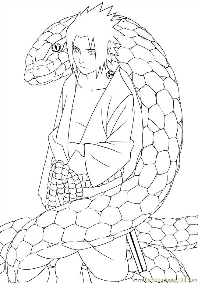 Naruto 03 Coloring Page Free Naruto Coloring Pages