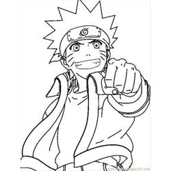 Naruto C1 Free Coloring Page for Kids