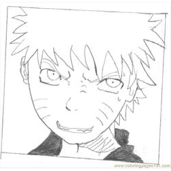 Narutodrawn1 Free Coloring Page for Kids