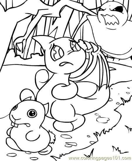 neopets1 50 coloring page   free neopets coloring pages