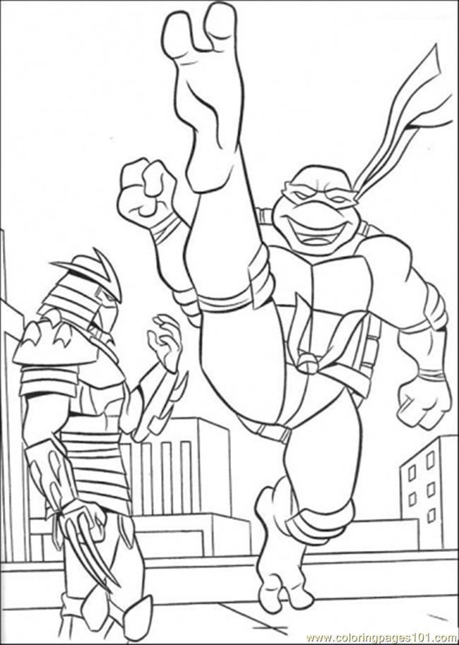 Challenges The Shredder Coloring Page Free Teenage