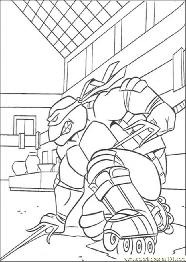 tmnt skating coloring pages - photo#12