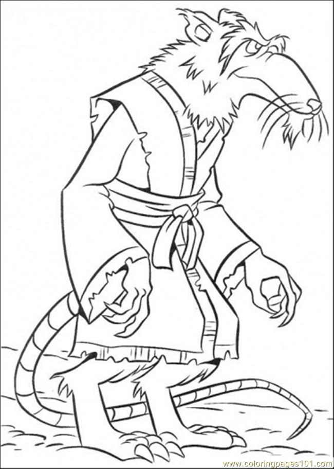 Splinter Coloring Page  Free Teenage Mutant Ninja Turtles