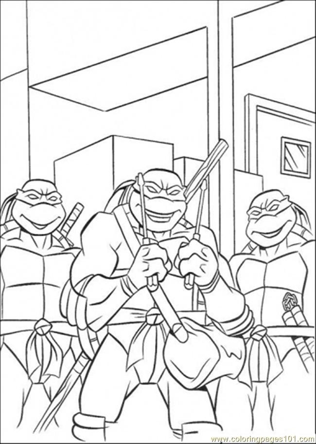 Three Tmnt Coloring Page
