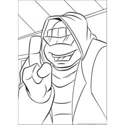 Leonardo Wears Jacket coloring page