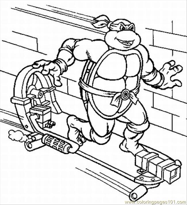 Turtles Coloring Pages 3 Lrg Coloring Page