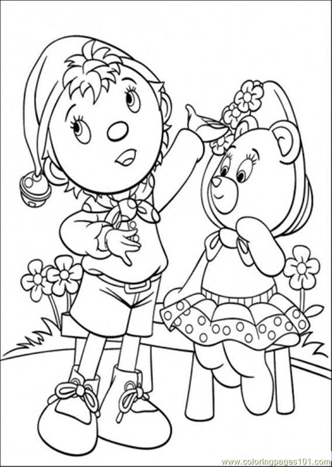 Noddy And Tessie Bear Coloring