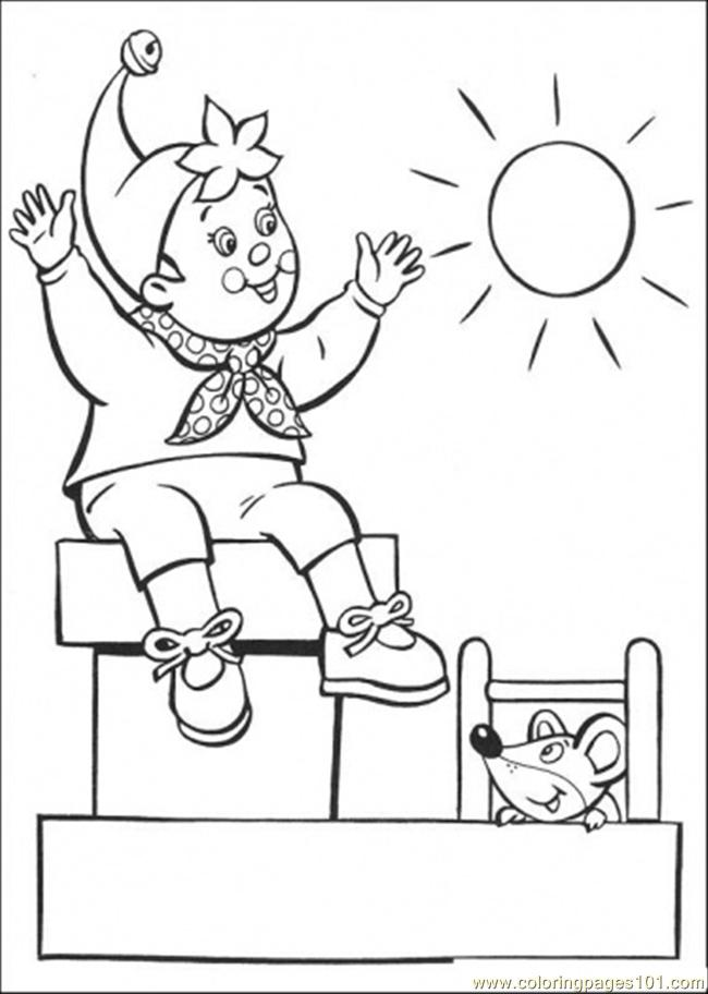 Noddy Enjoys The Sunny Day Coloring Page