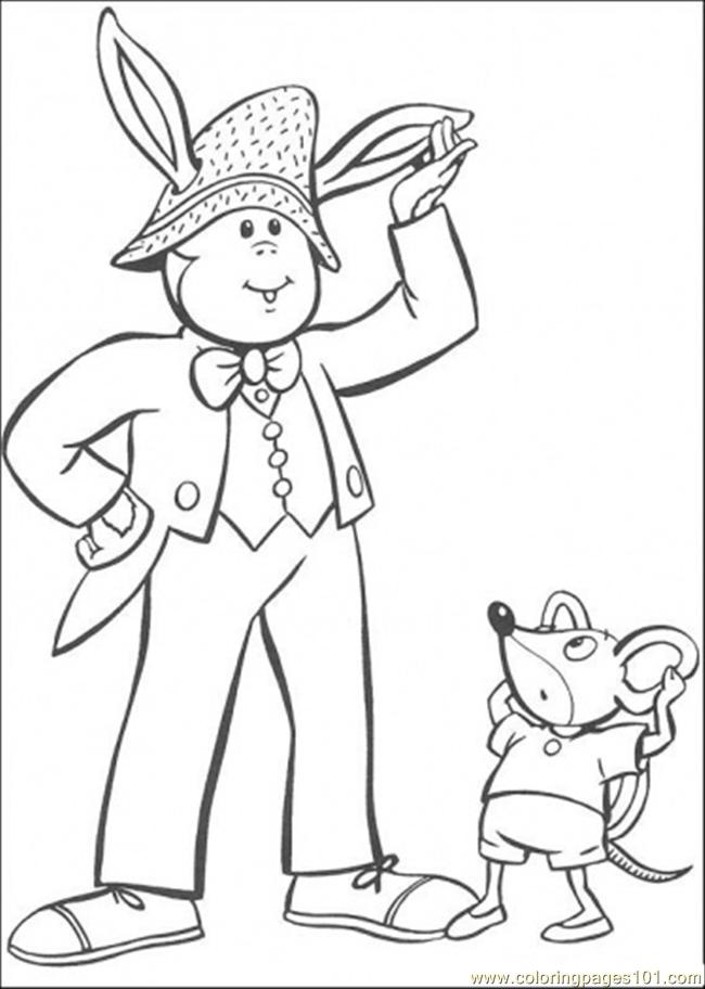 Noddy Friends 2 Coloring Page