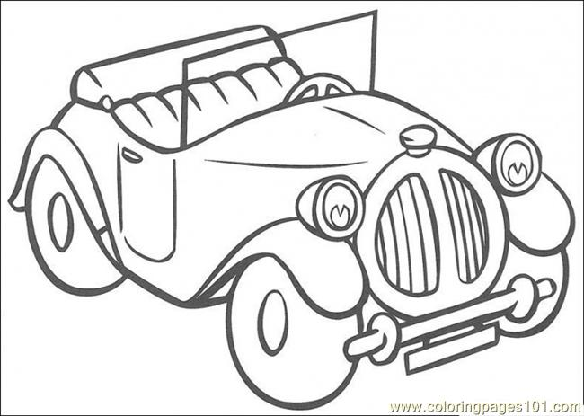 Noddys Car Coloring Page