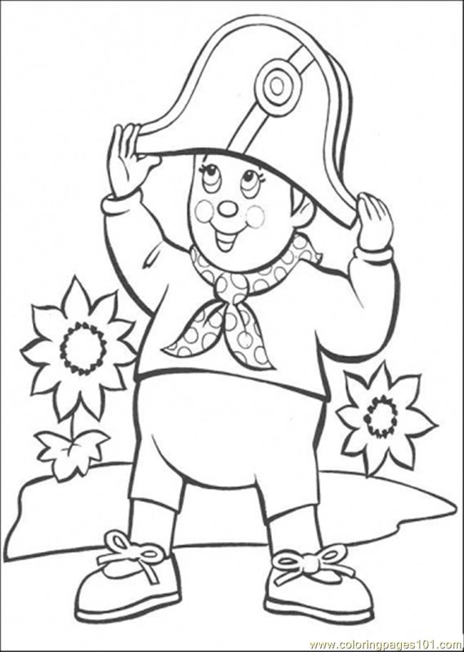 Noddy Uses Hat Coloring Page