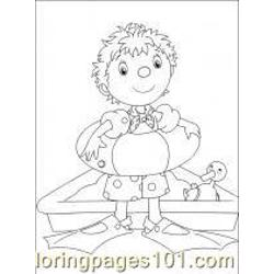 Noddy coloring page