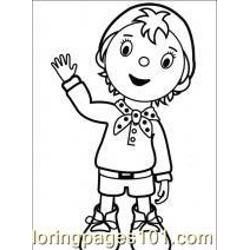 Noddy Free Coloring Page for Kids