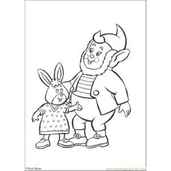 Big Ears And His Friend Free Coloring Page for Kids