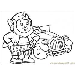 Big Ears And The Car Free Coloring Page for Kids