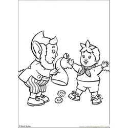 Big Ears Gives Hat To Noddy Free Coloring Page for Kids
