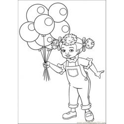 Dinal Doll Holds Baloons