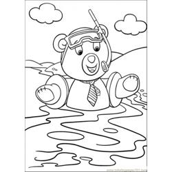 Master Tubby Bear Swims