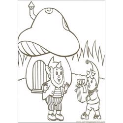 Noddy Brings Present For Big Ears Free Coloring Page for Kids