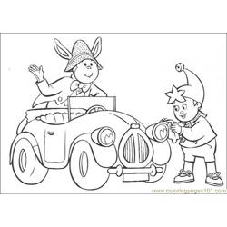 Noddy Cleans The Car Lamp