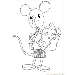 Noddy Friends Eats Cheese Free Coloring Page for Kids