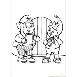 Noddy Talks With Big Ears Free Coloring Page for Kids