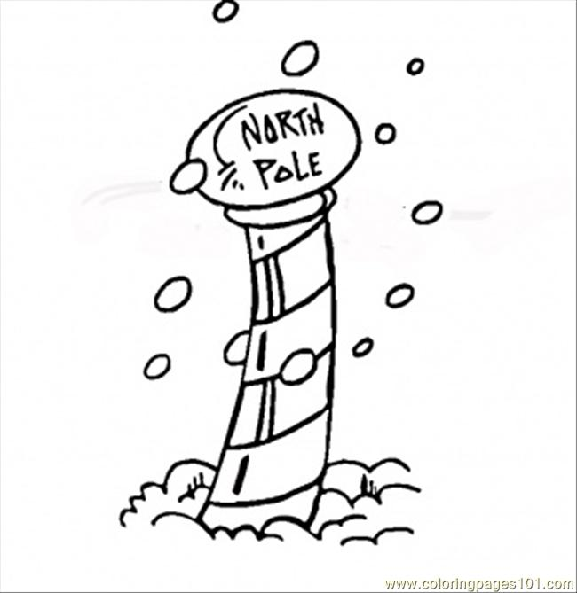 free north pole coloring pages - photo#11